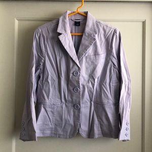 Gap light purple cotton blazer